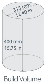 Build envelope 315mm 400mm